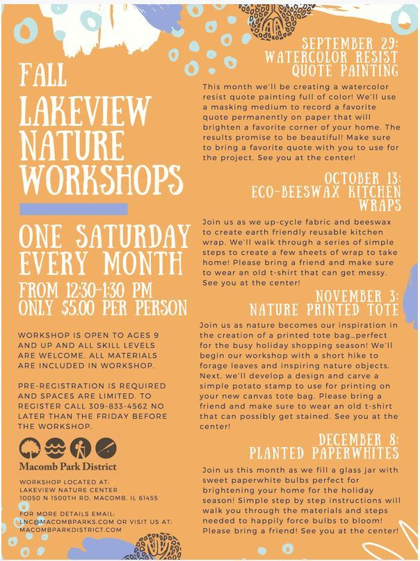 Lakeview Nature Workshops MPD